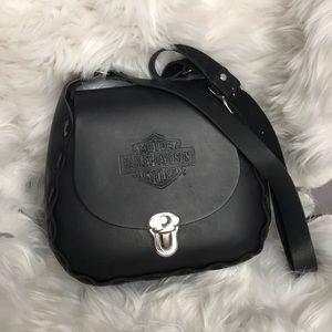Harley-Davidson Black Leather Satchel Bag